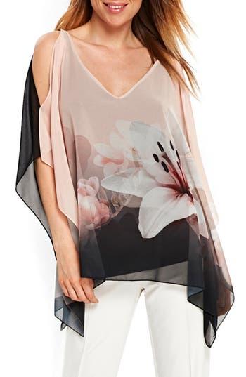 Women's Wallis Dusky Floral Top, Size Small - Pink