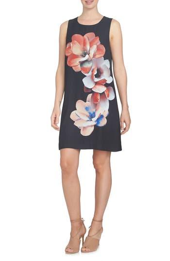 Cece Garden Bloom Shift Dress, Black