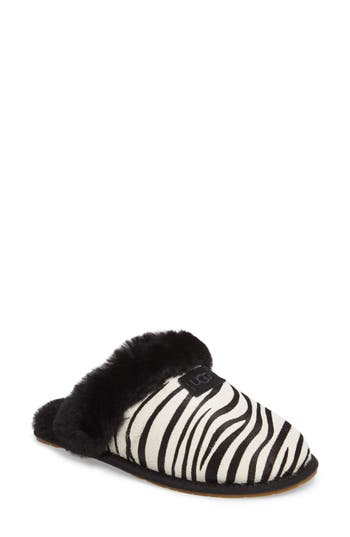 Ugg Australia Scuffette Ii - Exotic Genuine Calf Hair Slipper, White