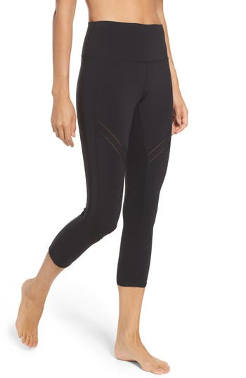 Alo High Rise Cosmic Capri Leggings, Black
