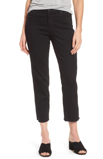 Petite Women's Halogen High Rise Straight Leg Crop Jeans