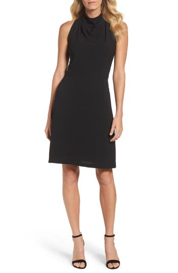 Maggy London Lace Back A-Line Dress, Black
