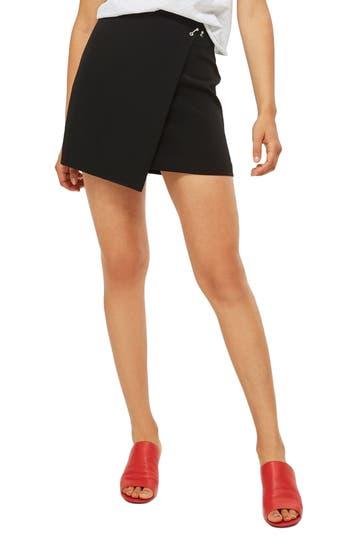 Topshop Ball & Bar Wrap Miniskirt, US (fits like 0) - Black