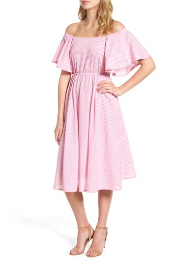 Stylekeepers Daisy Chains Off The Shoulder Dress, Pink