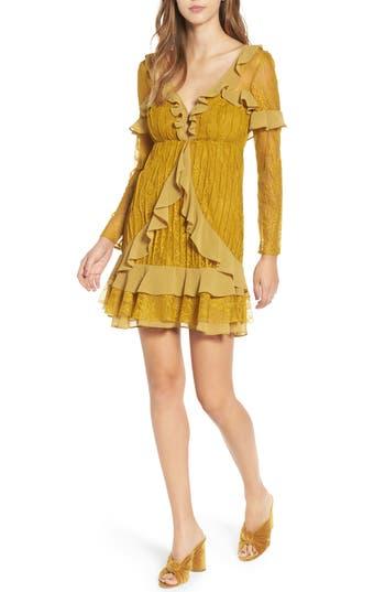 For Love & Lemons Daphne Lace Minidress, Green