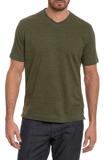 Robert Graham Traveler V-Neck T-Shirt, Green