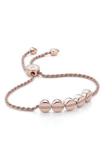 Monica Vinader Engravable Diamond Beaded Friendship Bracelet