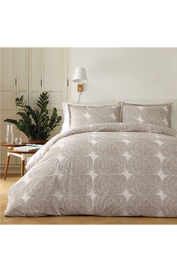 Marimekko Mehilaispesa Comforter & Sham Set, Size Twin - Beige