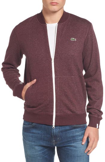 Lacoste Banana Collar Zip Jacket, Burgundy