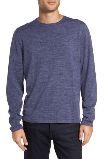 Calibrate Merino Blend Crewneck Sweater, Blue