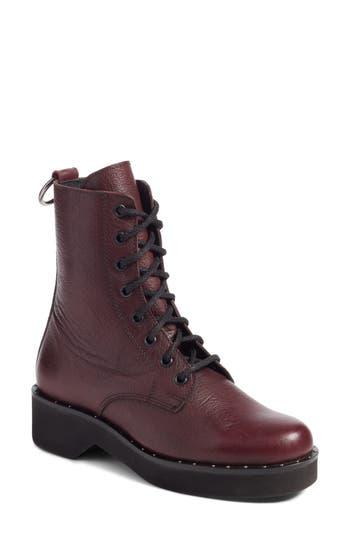 Steve Madden Rocco Combat Boot- Burgundy
