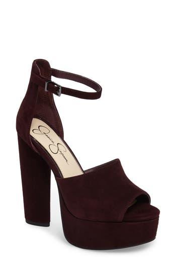 Jessica Simpson Elin Platform Sandal, Burgundy