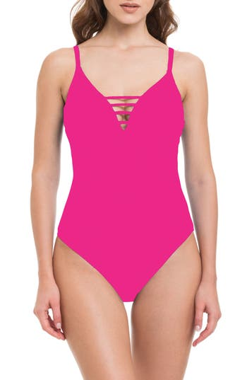 Profile By Gottex Quartzite One-Piece Swimsuit, Pink