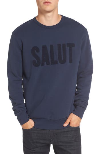 French Connection Salut Crewneck Sweater, Blue