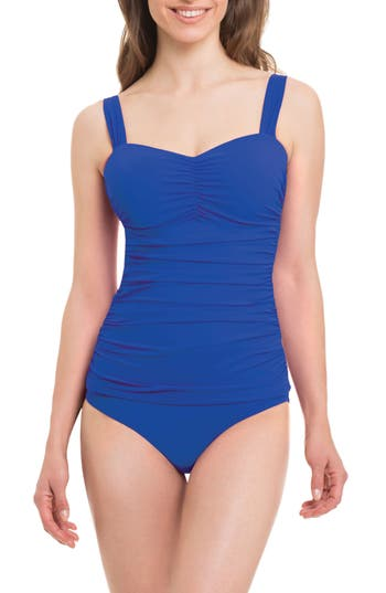 Profile By Gottex Tutti Fruitti One-Piece Swimsuit, Blue