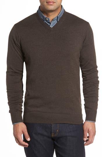 Peter Millar Merino Sweater, Metallic