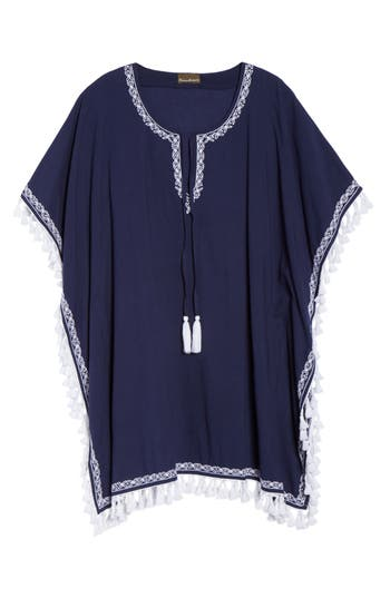 Women's Tommy Bahama Voile Cover-Up Tunic, Size Small/Medium - Blue