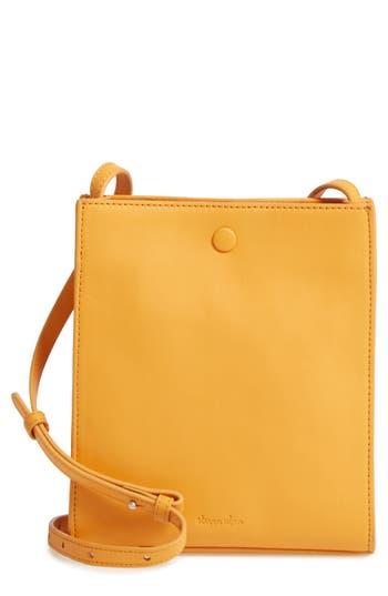 Steven Alan Camden Leather Crossbody Bag - Yellow
