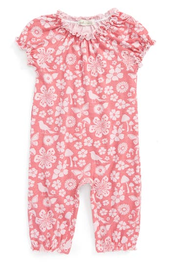 Infant Girls Peek Garden Bubble Romper