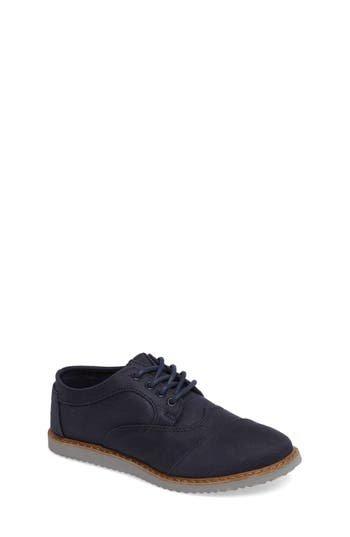 Boys Toms Brogue Cap Toe Wingtip Oxford
