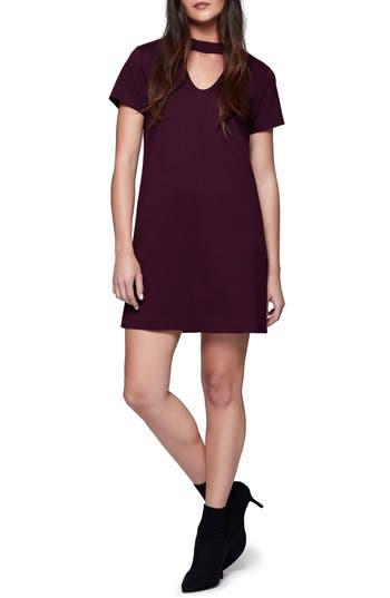 Sanctuary Madeline Choker Shift Dress, Burgundy