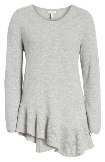 Joie Tambrel N Wool & Cashmere Asymmetrical Sweater Tunic, Grey