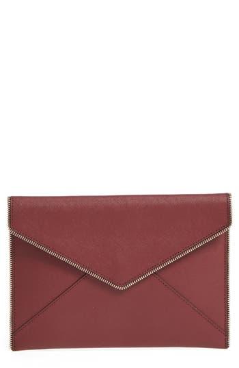 Rebecca Minkoff 'Leo' Envelope Clutch - Red