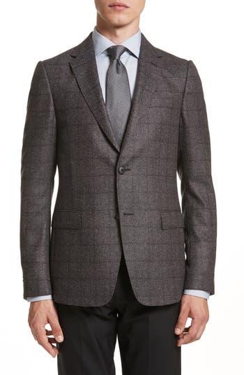 Men's Z Zegna Classic Fit Plaid Wool Sport Coat