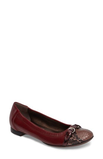 Agl Cap Toe Ballet Flat, Red