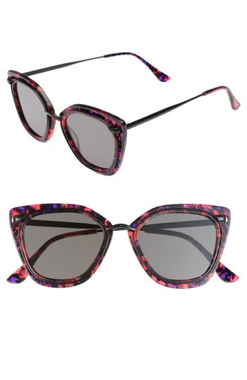 Women's Bonnie Clyde Temple 52Mm Sunglasses - Purple Tortoise