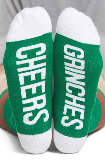 Women's Sockart Cheers Grinches Crew Socks, Size One Size - Green