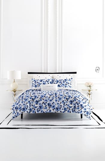 Kate Spade New York Garden Rose Comforter & Sham Set, Size King - Blue