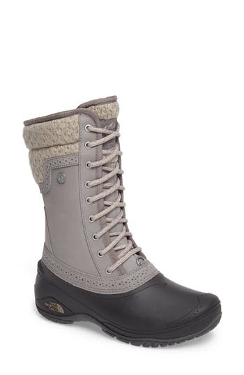 The North Face Shellista Waterproof Insulated Snow Boot- Grey