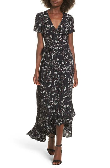 Lira Clothing Taryn High/low Wrap Dress, Blue