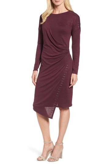 Nic+Zoe Studded Every Occasion Dress, Red