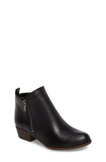 Girl's Lucky Brand Basel Double-Zip Bootie, Size 4 M - Black