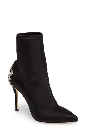 Badgley Mischka Meg Stretch Bootie- Black