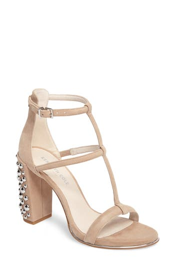 Kenneth Cole New York Deandra 2 Statement Heel Sandal, Beige