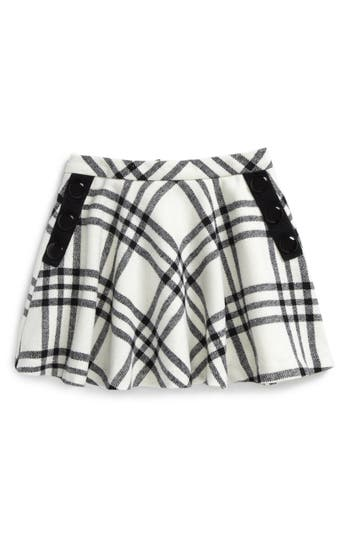 Girl's Kate Spade New York Plaid Wool Blend Skirt