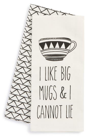 Levtex I Like Big Mugs Set Of 2 Dish Towels, Size One Size - Ivory