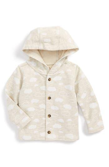 Infant Peek Cloud Hooded Jacket, Size L (12-1) - Beige