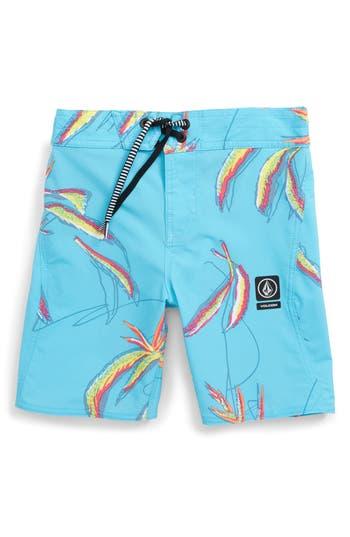 Boys Volcom Tropical Print Board Shorts