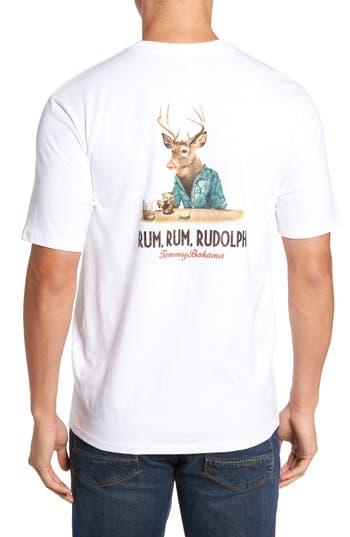 Tommy Bahama Rum Rum Rudolph T-Shirt, White