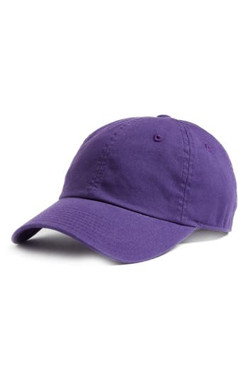 AMERICAN NEEDLE | Women's American Needle Washed Cotton Baseball Cap - Purple | Goxip