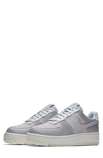 Nike Air Force 1 Upstep Premium Platform Sneaker- Metallic