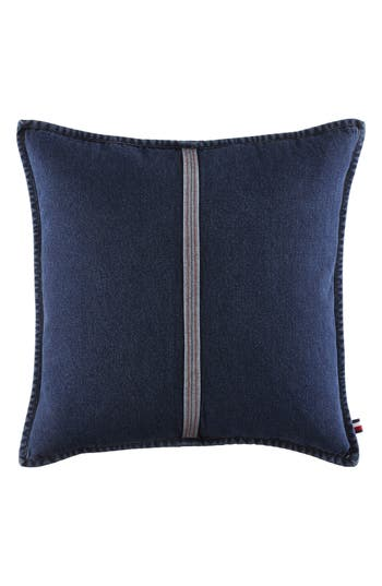 Tommy Hilfiger Selvage Stripe Denim Accent Pillow, Size One Size - Blue