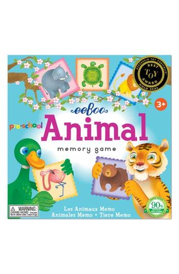 Toddler Eeboo 20-Piece Preschool Animal Memory Game
