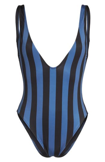 Solid & Striped The Michele One-Piece Swimsuit, Blue