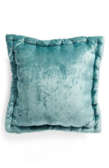 Nordstrom At Home Velvet Accent Pillow, Size One Size - Blue/green