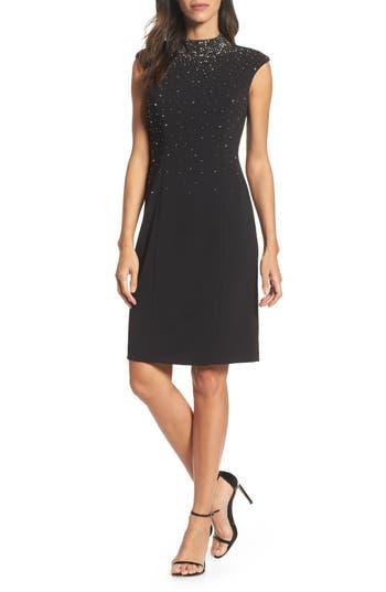Eliza J Embellished Sheath Dress, Black